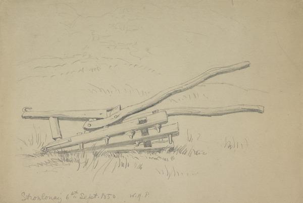 A Harrow at Stronlonaig (Dated 1850)