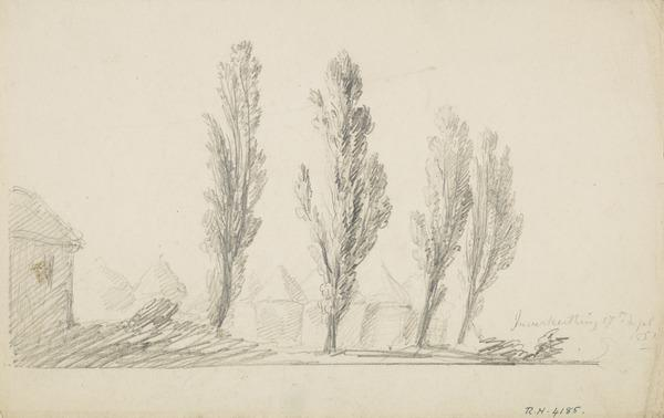 Poplars at Inverkeithing (Dated 1851)