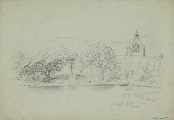Landscape with Chapel (Dated Septmeber 8, 1858)