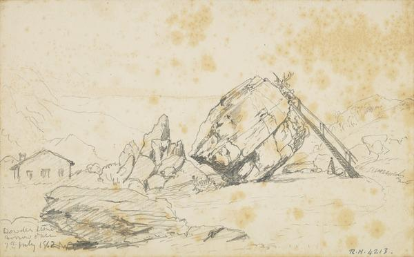 The Bowder Stone, Cumbria (Dated 1862)