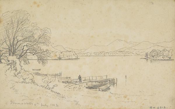 Derwentwater, Cumbria (Dated 1862)