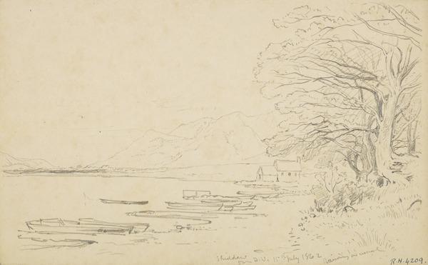 Skiddaw from Derwentwater, Cumbria (Dated 1862)