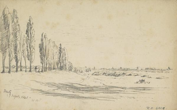 A Distant View of Dentz, West Germany (Dated 1861)