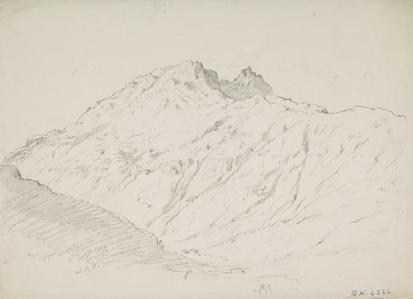 A Mountain Peak at Upper Morelaggan (Dated 1875)