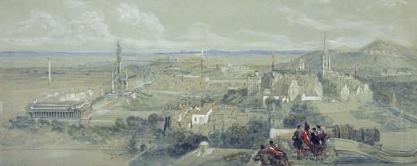 View of Edinburgh from the Ramparts of the Castle, Looking East (About 1846)
