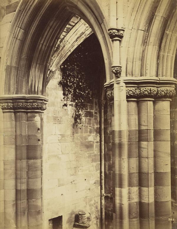 Arches and columns, Melrose Abbey (March - April 1866)