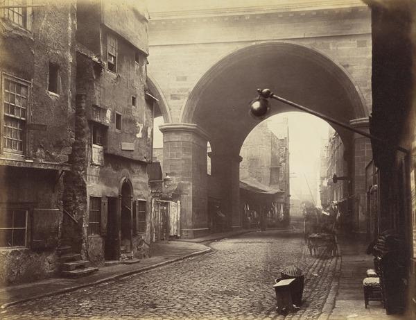 The Cowgate Arch of George IV Bridge, Edinburgh (About 1860)