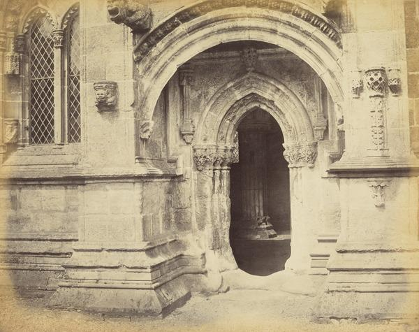 Rosslyn Chapel, South Doorway (About 1860s)