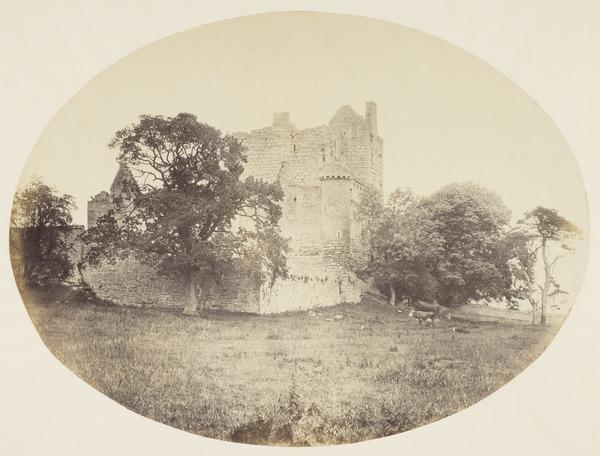 Craigmillar Castle - trees and cornfield (About 1860)
