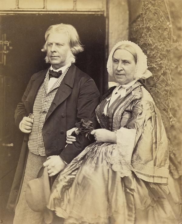David Octavius Hill and his sister, Sarah (Hill) Watson (About 1860)