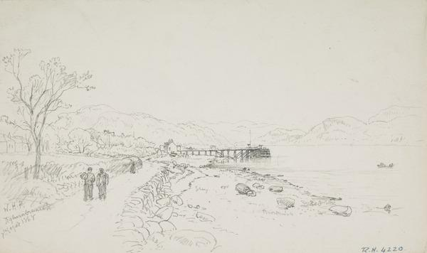 The Landing Stage, Tighnabruaich (Dated 1868)
