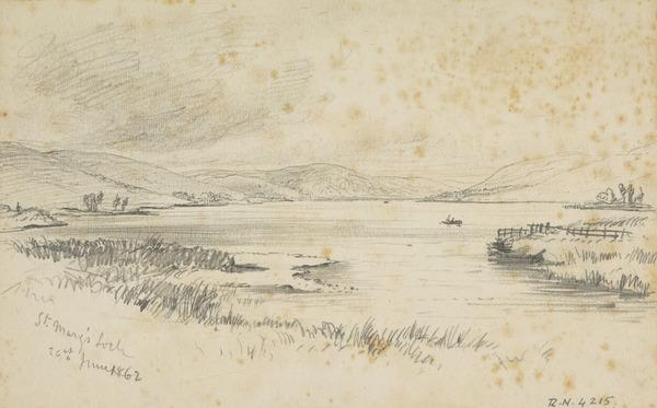 St Mary's Loch, Selkirkshire (Dated 1862)