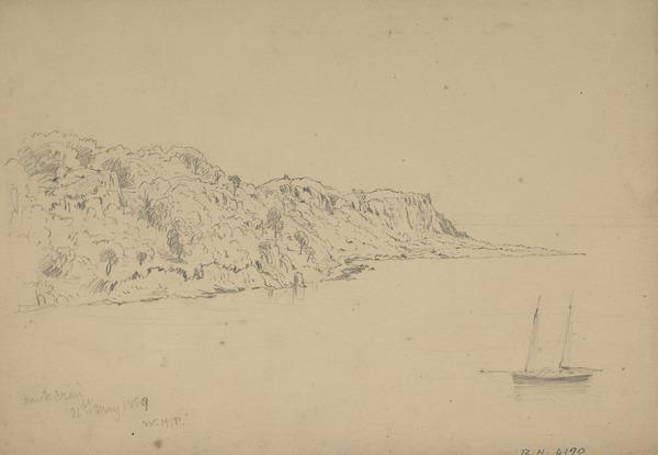 Hawkcraig [Verso: A Seated Woman] (Dated 1859)
