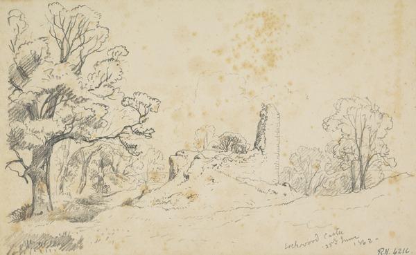 Lochwood Castle, Dumfriesshire (Dated 1862)
