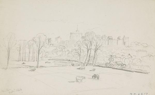 Windsor Castle (Dated 1864)