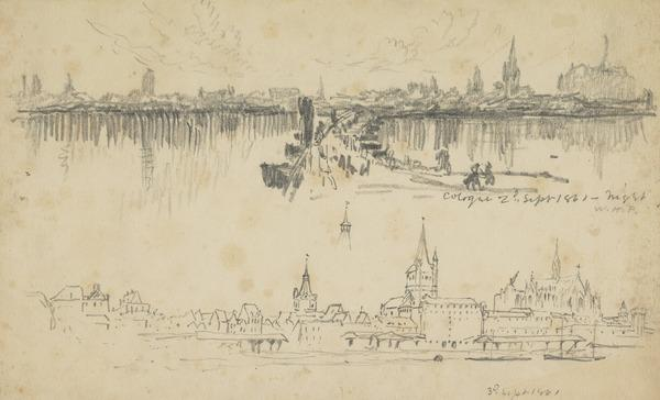Two Views of Cologne (Dated September 3, 1861)