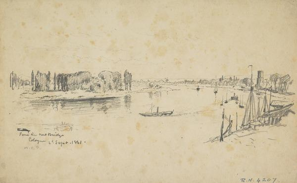 The Rhine at Cologne (Dated 1861)