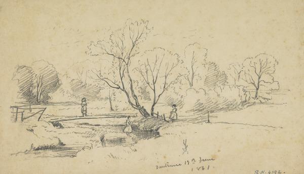 Duntrune, Argyll [Verso: A Man's Head] (Dated 1861)