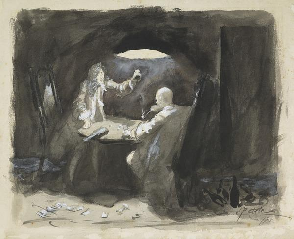 The Gamblers (Dated 1875)