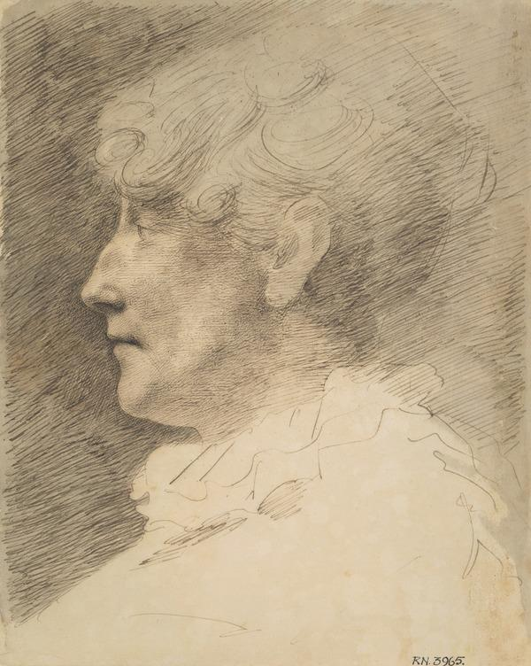 Head of a Woman in Profile to the Left