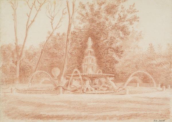 The Fontana dei Cavalli Marini in the Borghese Gardens, Rome (About 1791 - 1794)
