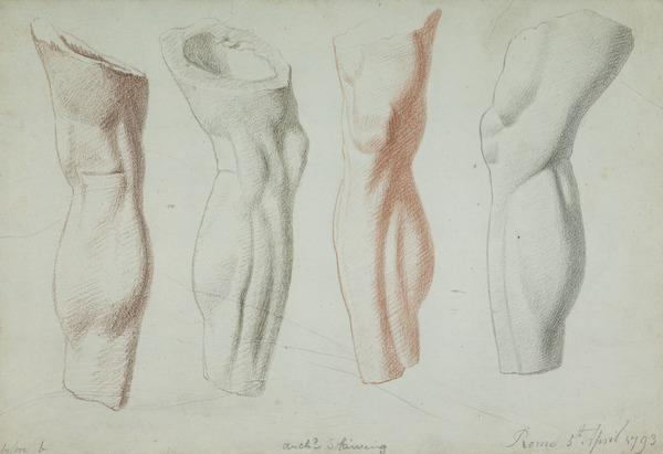 A Leg. Drawn from a Cast (Dated 5th April 1793)