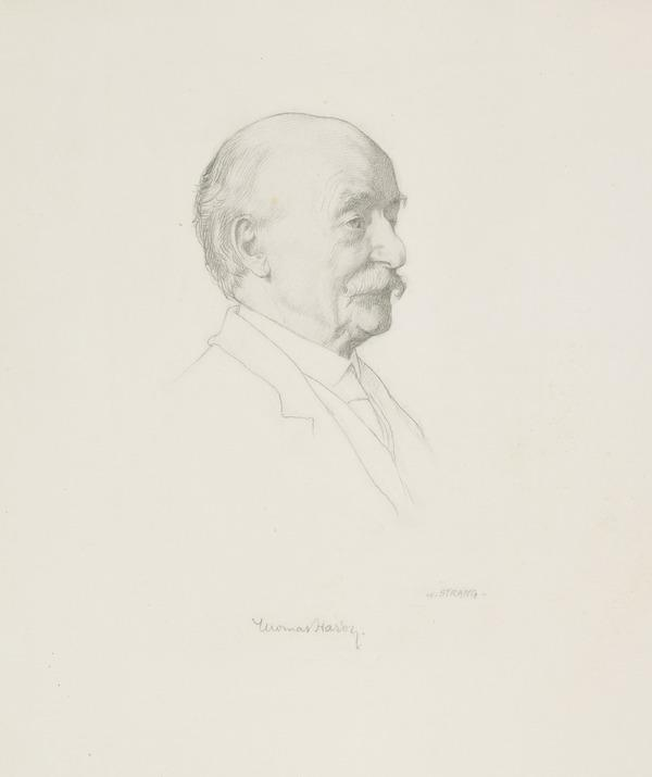 Study for the Etching of Thomas Hardy, 1840 - 1928. Poet and novelist