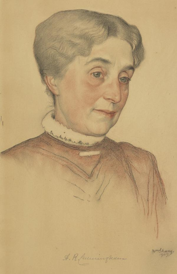 Mrs Cunningham, Wife of William Cunningham (Dated 1909)
