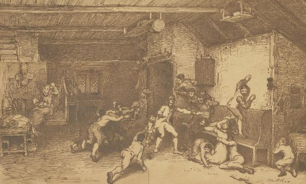 Compositional Study for the Painting 'Blind Man's Buff' (About 1813)