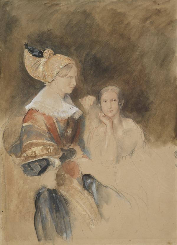 Lady and her Daughter in Foreign Costume
