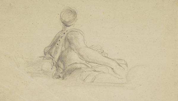 Reclining Figure [Verso: A Goblet]