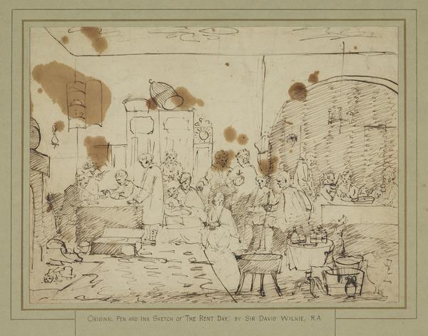 Study for the Painting 'The Rent Day' (1807)