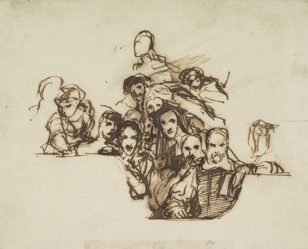 A Group of People. Study for the Painting 'John Knox Preaching' (About 1832)