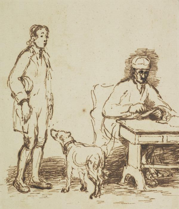 Study for the Painting 'The Letter of Introduction' (About 1813)