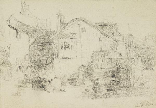 One of three Studies of Farm Buildings. Studies for the Painting 'The Village Festival' (About 1811)