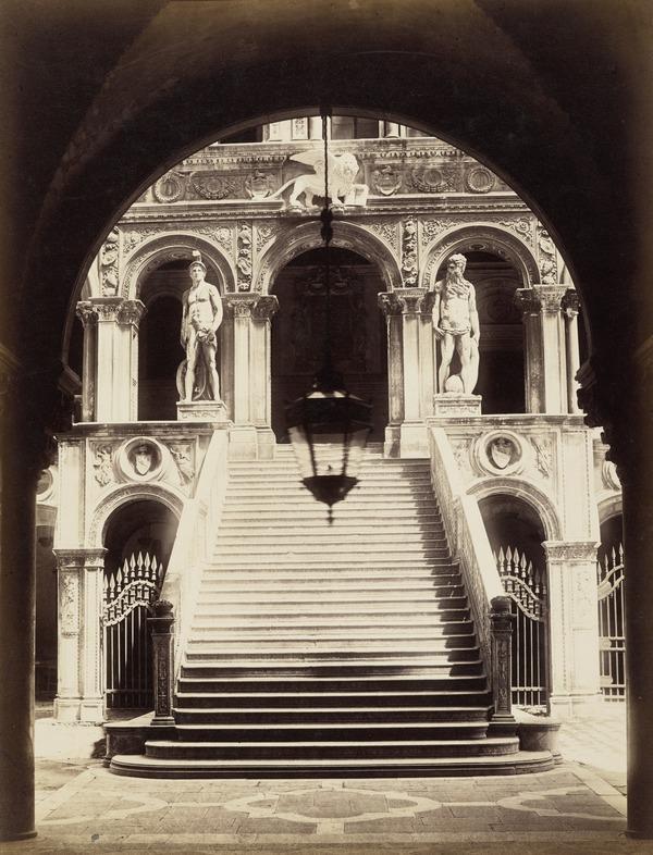 Scala dei Giganti, Palazzo Ducale, Venice (1860s)