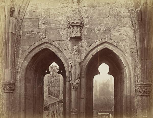Lancet windows, Melrose Abbey, view (1866 (if Melrose))