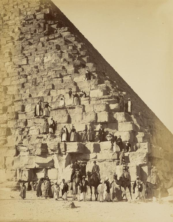 Tourist at a Pyramid