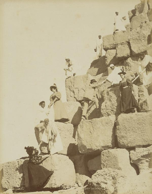 'Ascension de la Pyramide' Egypt (Probably 1890s)