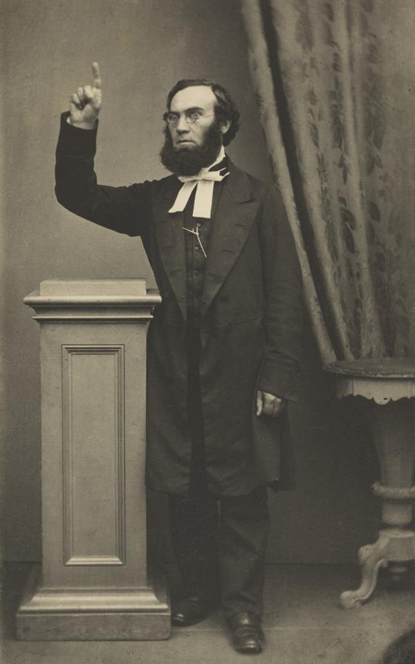 Unknown Man with Raised Arm