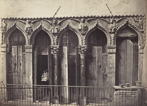 Evangelist Windows of a House at the Ponte del Forner, San Cassano, Venice (1850s)