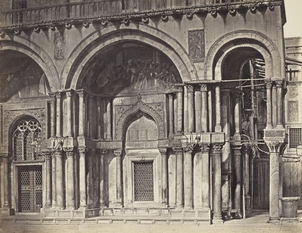 Fourth and Fifth Porticos of the West Front of St Mark's, Venice (1860s)