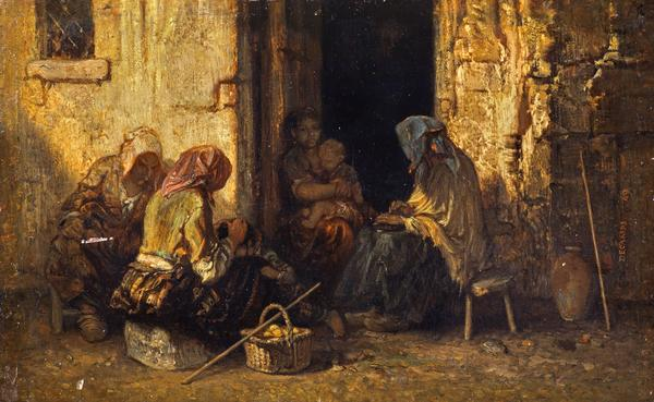 The Beggars (Dated 1849)