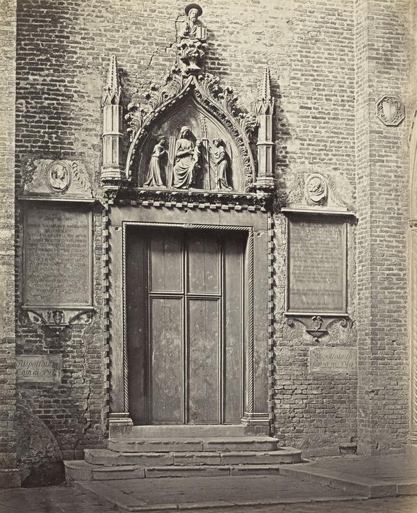 Porta di San Marco ai Frari, Venezia [Door of St Mark in St Peter's Chapel, Basilica ai Frari, Venice]