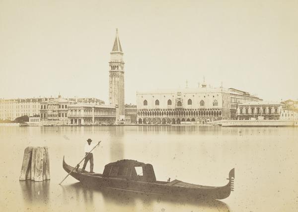 Panorama del Molo da S. Giorgio e Gondola [View from St George Church with Gondola, Venice]