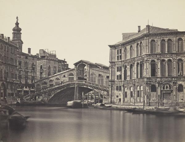 Palazzo Camerlenghi e Ponte Rialto, Venezia [Camerlenghi Palace and Rialto Bridge, Venice]