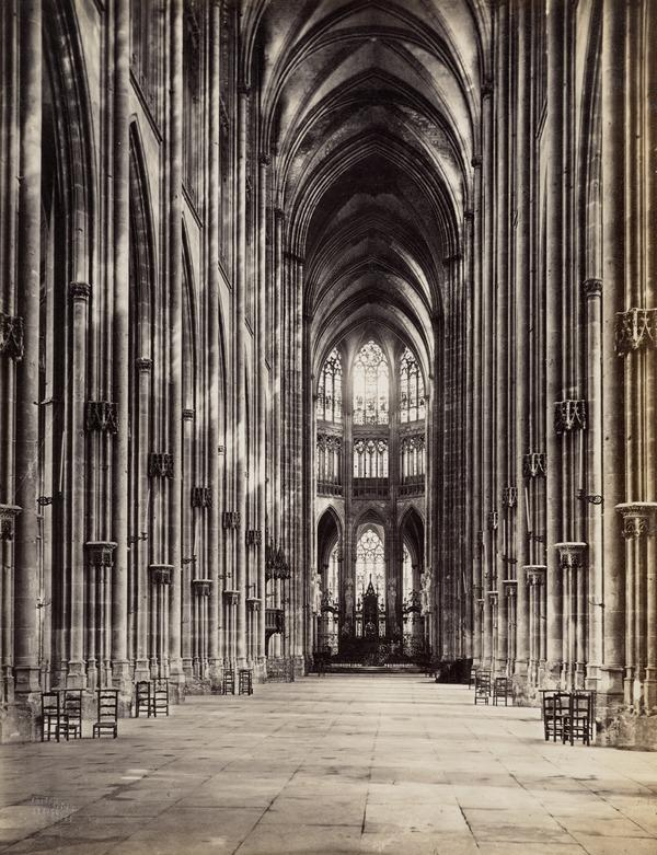 The Church of St. Ouen Interior, Rouen