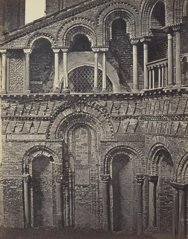 Dettaglio a destra di S. Donato e Maria in Murano [St Donato and Maria Church, Murano (Detail), Venice] (1850s / 1860s [?])