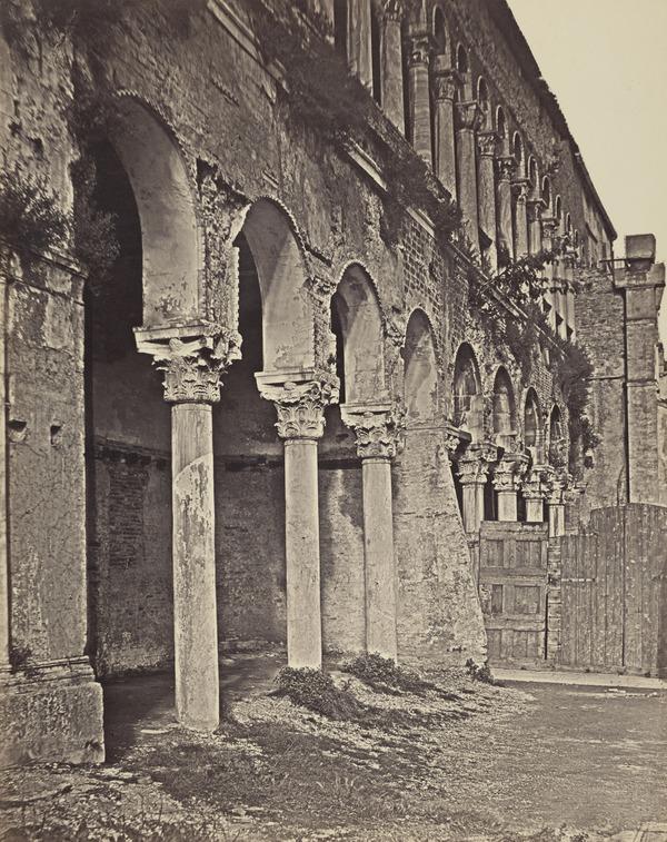 'Dettaglio Fontego dei Turchi' (1860s)