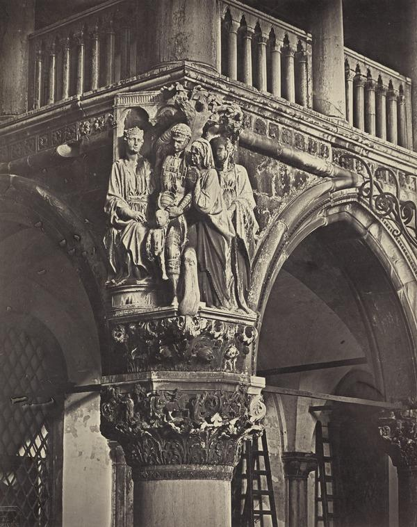 Angelo Occidentale del Palazzo Ducale [Judgment of Solomon carving, Ducal Palace], Venice (1850s / 1860s ?)